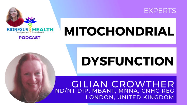 Read more about the article Mitochondrial Dysfunction with Gilian Crowther – BioNexus Health Podcast: Experts Ep. 15