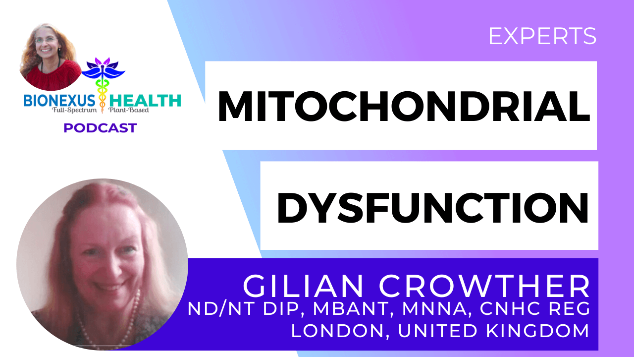 You are currently viewing Mitochondrial Dysfunction with Gilian Crowther – BioNexus Health Podcast: Experts Ep. 15